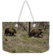 Twin Grizzlies-signed-#3299 Weekender Tote Bag