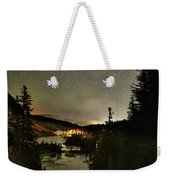 Twin Lakes Night Panorama Weekender Tote Bag