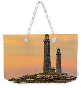 Twin Lights With Morning Glow Weekender Tote Bag