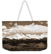Twin Peaks In Sepia  Weekender Tote Bag