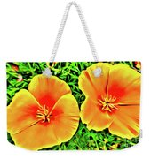 Twin Poppies Weekender Tote Bag