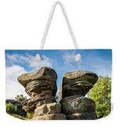 Twin Rocks At Brimham Weekender Tote Bag