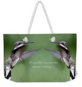 Twins Card - Hummingbirds Weekender Tote Bag