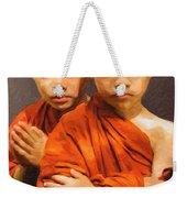 Twins In Orange Weekender Tote Bag