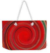 Twirl Red-0951 Weekender Tote Bag