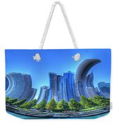 Twisted Chicago Skyline Weekender Tote Bag