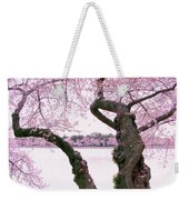 Twisted In Bloom Weekender Tote Bag
