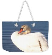 Twisted  White Swan Weekender Tote Bag
