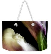 Twisting Cala Lily Two Weekender Tote Bag