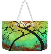 Twisting Love II Original Painting By Madart Weekender Tote Bag by Megan Duncanson