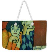 Two Acrobats, Harlequin And His Companion Weekender Tote Bag