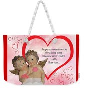 Two Angels And The Heart Weekender Tote Bag