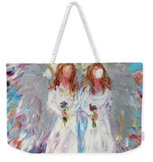 Two Angels Weekender Tote Bag