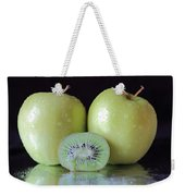 Two Apples And A Kiwi Weekender Tote Bag