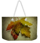 Two Autumn Leaves Weekender Tote Bag