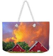 Two Barns At Sunset Weekender Tote Bag