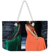 Two Beautiful Women In Elegant Long Dresses Weekender Tote Bag