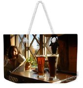 Two Beers At The Lodge Weekender Tote Bag