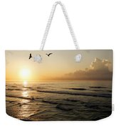 Two Birds At Breakast Weekender Tote Bag