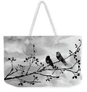 Two Birds-black Weekender Tote Bag