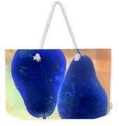 Two Blue Pears On Peach  Side By Side Weekender Tote Bag