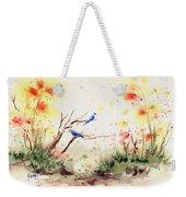 Two Bluebirds Weekender Tote Bag by Sam Sidders