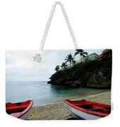 Two Boats, Island Of Curacao Weekender Tote Bag