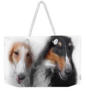 Two Borzois No 01 Weekender Tote Bag