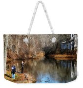 Two Boys Fishing Weekender Tote Bag