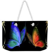 Two Butterflys -4 Weekender Tote Bag