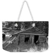 Two Cabins One Outhouse Weekender Tote Bag