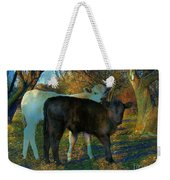 Two Calfs Weekender Tote Bag