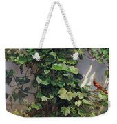 Two Cardinals On The Vine Tree Weekender Tote Bag