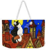 Two Cats On The Roof Weekender Tote Bag