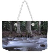 Two Ceders Next To A Mountain Stream Weekender Tote Bag