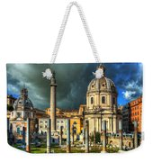 Two Churches And Columns Weekender Tote Bag