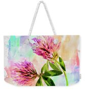 Two Clover Flowers With Pastel Shades. Weekender Tote Bag