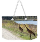 Two Cranes Weekender Tote Bag
