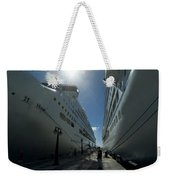 Two Cruise Ships On Either Side Weekender Tote Bag