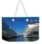 Two Cruise Ships Weekender Tote Bag