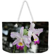 Two Delicate Orchids Weekender Tote Bag