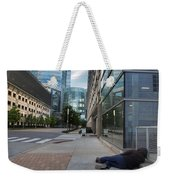 Two Different Worlds Weekender Tote Bag