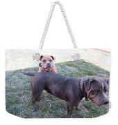 Two Dogs Weekender Tote Bag