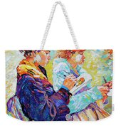 Two Drawing Ladies Weekender Tote Bag