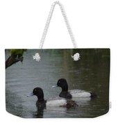Two Ducks In The Rain Weekender Tote Bag