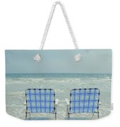 Two Empty Beach Chairs Weekender Tote Bag