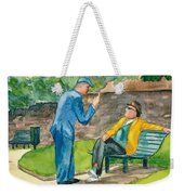Two Englishmen In Conversation  Weekender Tote Bag