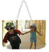Two Excited Children Weekender Tote Bag