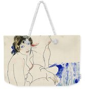 Two Female Nudes By The Water Weekender Tote Bag