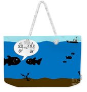Two Fish Discuss Wave Theory. Weekender Tote Bag